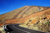 Road in El Teide National Park, Tenerife, Canary Islands, Spain