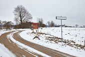 Winter Landscape in rural area