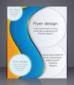 Business Brochure. Layout Flyer, Template, Or Magazine Cover
