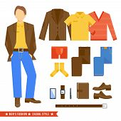 Business Man Clothes Icons