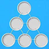 Abstract template with circles on a blue background