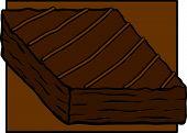 chocolate brownie with caramel stripes