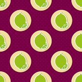 Limes Pattern. Seamless Texture With Ripe Limes