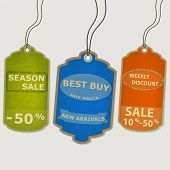 Set coupon labels. grunge style
