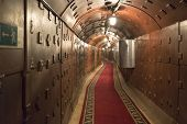 Moscow, Russia - NOVEMBER 29, 2014, Nuclear bunker, a former Soviet secret military facility - alter