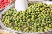 Group Of Natural Green Olives