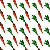 Vector seamless background with carrot.