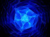 Blue Plasma In Space