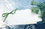 Invitation Card On Snow