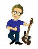 Cartoon guitarist