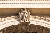 Detail of St. Stephen's Basilica in Budapest
