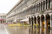 High water on San Marco square, Venice
