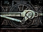 Steam Locomotive Wheel And Rods