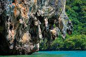 Huge Limestone Cliff In The Phang Nga Bay, Thailand
