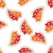 Multicolor leaves seamless pattern on a background. Vector illustration Eps 10.