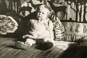 GERMANY, OCTOBER 11, 1938 -  Vintage photo of baby girl
