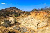 Wild Landscape Of Eroded Sandstone In Africa