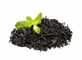 Black Tea With Mint Leaf