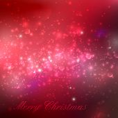 Merry Christmas. shiny red holiday background with lights, spark