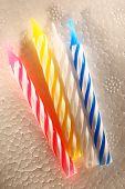 Bright Candles On Foam Plastic