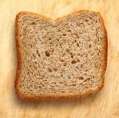 Bread Slice On Paper Background