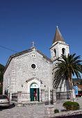 DONJA LASTVA, MONTENEGRO - JUNE, 08: Catholic Church of Saint Roch, on June 08, 2012, in Donja Lastva, Montenegro