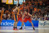 VALENCIA, SPAIN - DECEMBER 7:  vives with ball during Endesa Spanish League game between Valencia Basket Club and Laboral Kutxa Baskonia at Fonteta Stadium on December 7, 2014 in Valencia, Spain