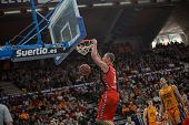 VALENCIA, SPAIN - DECEMBER 7:  Iverson 4 during Endesa Spanish League game between Valencia Basket Club and Laboral Kutxa Baskonia at Fonteta Stadium on December 7, 2014 in Valencia, Spain