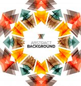 Triangle geometric concept, abstract background