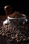 Guatemala ground coffee with coffee bean