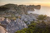 Cliffs Of Formentor Peninsula During Sunset