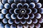 background of PVC pipes