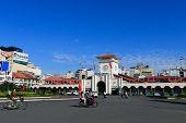 Ben Thanh market at Quach Thi Trang park in Ho chi minh city ( saigon )