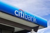 Citibank Bank Exterior And Sign