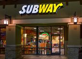Subway Restaurant Exterior