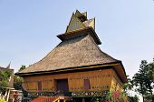 foto of greater  - A heritage wooden house built in traditional style of Riau on the greater Sunda island of Sumatra - JPG