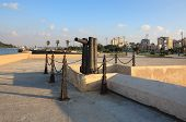 Guns on the seafront Malecon.