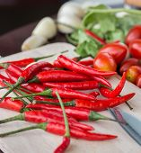 Chillies And Vegetables Indicates Chili Pepper And Cayenne