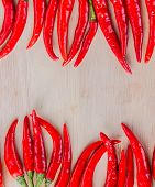 Chillies With Copyspace Means Chili Pepper And Blank