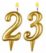 Birthday Candles Number Twenty Three