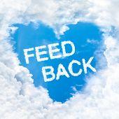 Feedback Word Inside Love Cloud Blue Sky Only
