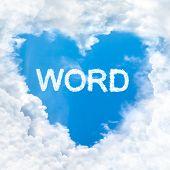Word Inside Love Cloud Blue Sky Only