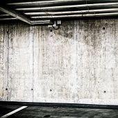 Concrete Wall Underground Interior Construction Background Texture