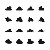 Set Of Different Images Clouds, Vector Illustration