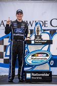 Lexington, OH - Aug 16, 2014:  Chris Buescher (60) wins the Nationwide Children's Hospital 200 at Mid-Ohio Sports Car Course in Lexington, OH.