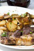 Entrecote Steak Diinner Ajaccio Corsica France