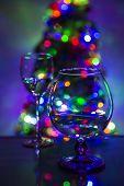 Christmas Tree Through Glass