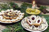 Christmas Cookies With Candle