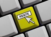 Computer keyboard pension