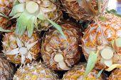 Fresh Pineapple In The Market
